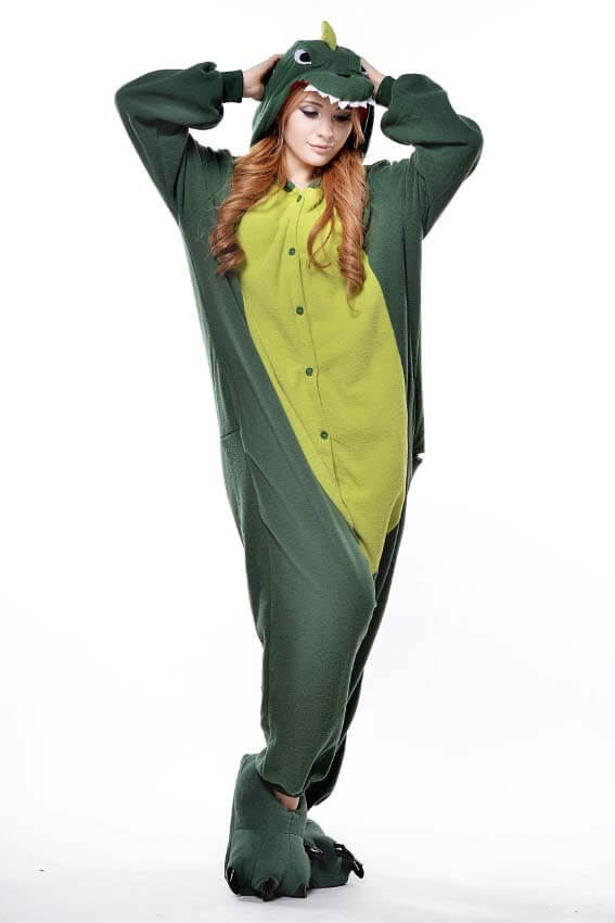 Кигуруми зеленый динозавр фото