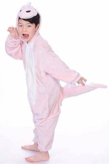 Детский кигуруми динозавр розовый купить