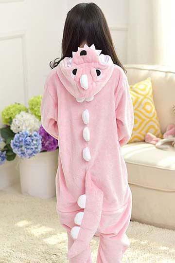 Детский кигуруми динозавр розовый фото
