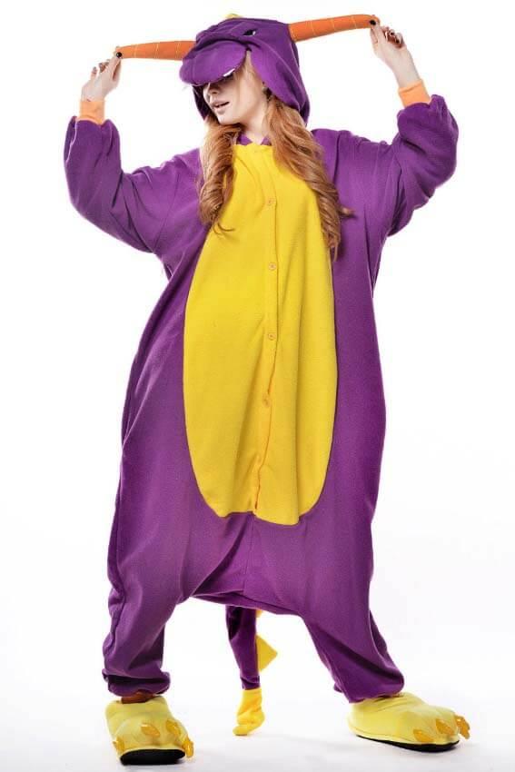 Кигуруми фиолетовый дракон купить