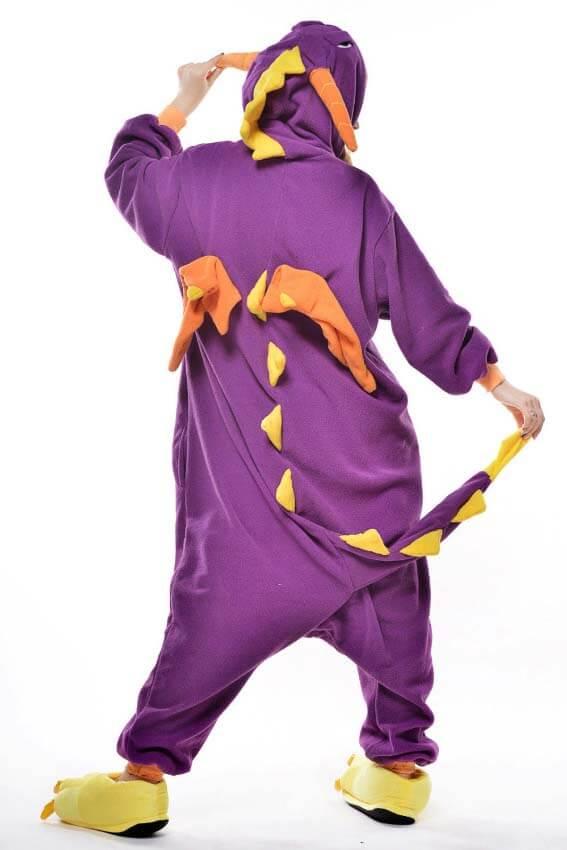Кигуруми фиолетовый дракон спб