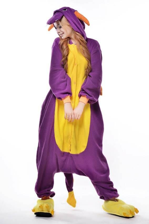Кигуруми фиолетовый дракон фото