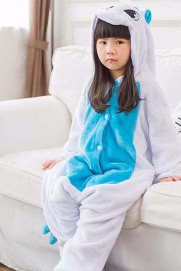 Детский кигуруми голубой единорог купить