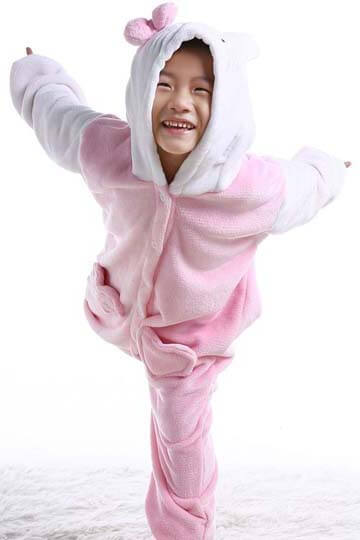 Детский кигуруми котенок розовый фото