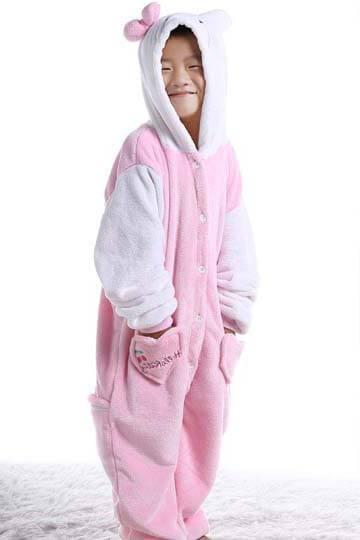 Детский кигуруми котенок розовый