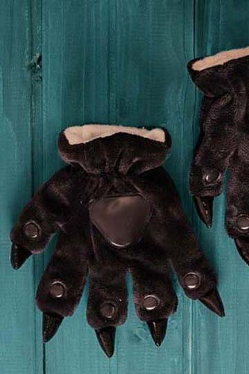 Лапки кигуруми черные