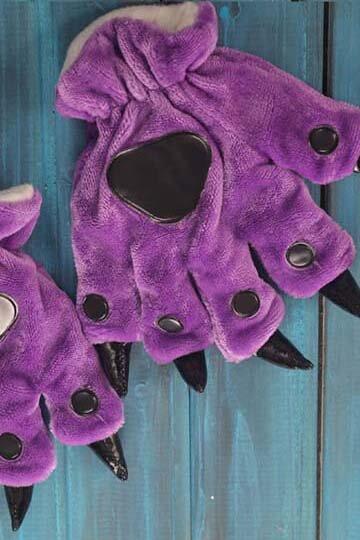 Лапки кигуруми фиолетовые