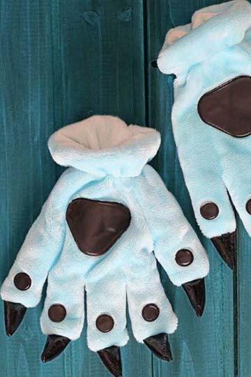 Лапки кигуруми голубые
