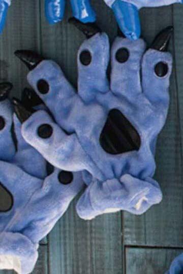 Лапки кигуруми синие