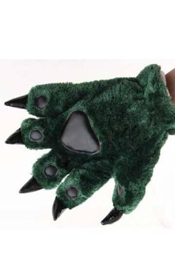 Лапки кигуруми зеленые