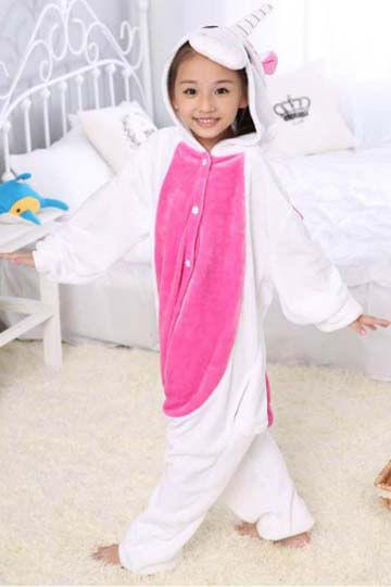 Детский кигуруми розовый единорог фото