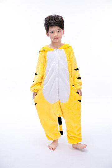 Детский кигуруми тигр желтый