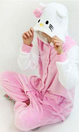 Детский кигуруми котенок розовый магазин
