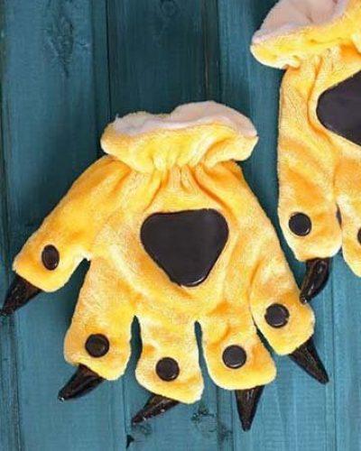 Лапки кигуруми желтые