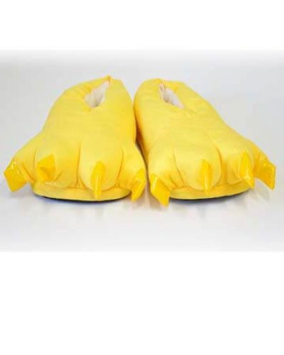 Тапки лапки желтые фото