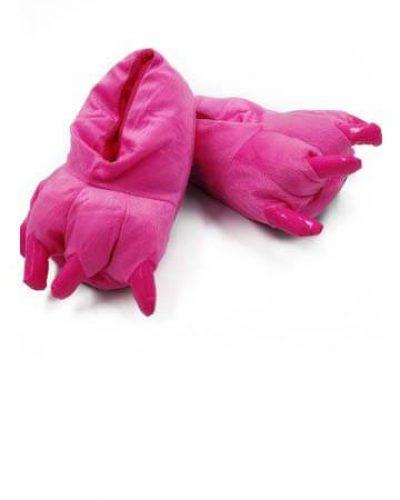 Тапки лапки ярко розовые